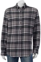 Croft & Barrow Big & Tall Classic-Fit Plaid Flannel Button-Down Shirt