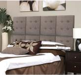 AZ Home and Gifts Next Luxe 18 in. x 18 in. 8-Wall Panel Headboard Set in Tweed Grey