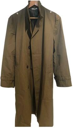 Pinko Green Cotton Trench Coat for Women