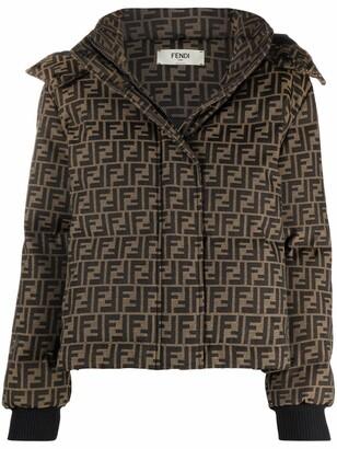 Fendi FF-print hooded puffer jacket