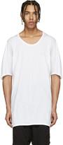 11 By Boris Bidjan Saberi White Raglan Long T-Shirt