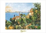 Cezanne 1art1 Posters: Paul Poster Art Print - La Mer A L'estaque (28 x 20 inches)
