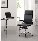 ZUO Lider Plus High Back Black Office Chair
