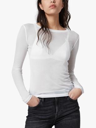 AllSaints Francesco Semi-Sheer Long Sleeve T-Shirt