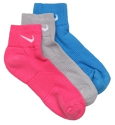 Nike Performance Cotton Womens Ankle Socks - 3 Pack