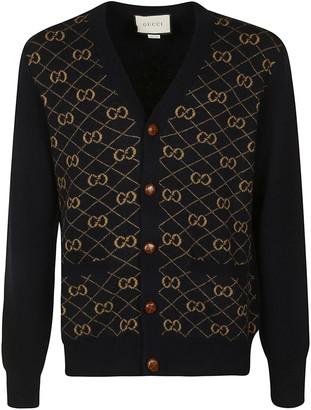 Gucci Logo Motif V-neck Cardigan