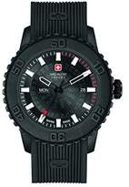 Swiss Military Men's Quartz Watch with Black Dial Analogue Display and Black Silicone Strap 6-4281.27.007