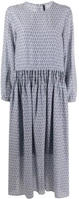 Sara Lanzi Leaf Print Dress