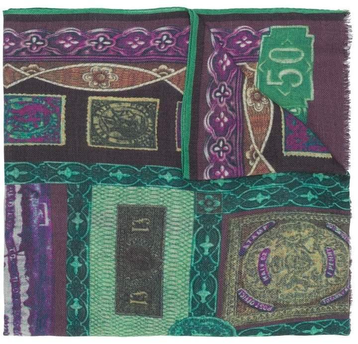 Etro mix print scarf