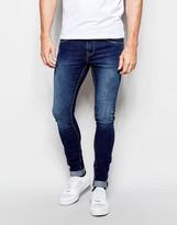 Pull&bear Dark Wash Super Skinny Fit Jeans - Blue