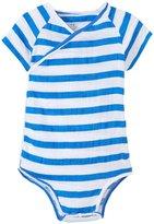 Aden Anais aden anais Kimono Bodysuit (Baby) - Ultramarine Blazer Stripe - 9-12 Months