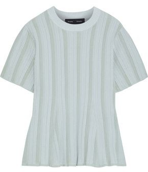 Proenza Schouler Fluted Ribbed-knit Top