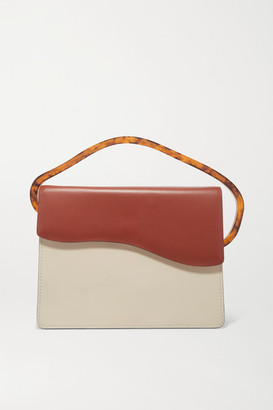 NATURAE SACRA Aiges Two-tone Leather And Resin Tote - Off-white