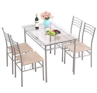 Ebern Designs Melkon 5 Piece Dinning Table Set Ebern Designs