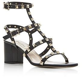 Valentino Women's Rockstud Strappy Block-Heel Sandals