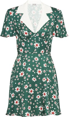 Miu Miu Satin jacquard dress