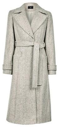 Dorothy Perkins Womens Cream Herringbone Wrap Coat, Cream