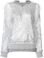 Sacai sequin embroidered sweatshirt