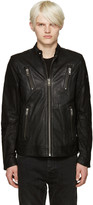 Diesel Black Leather L-rambo Jacket