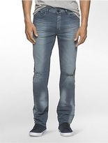 Calvin Klein Mens Slim Straight Faded Slate Jeans