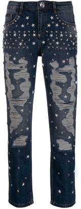 Philipp Plein Star studded boyfriend jeans
