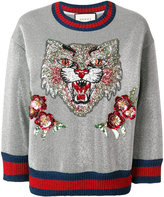 Gucci Angry Cat embroidered sweatshirt