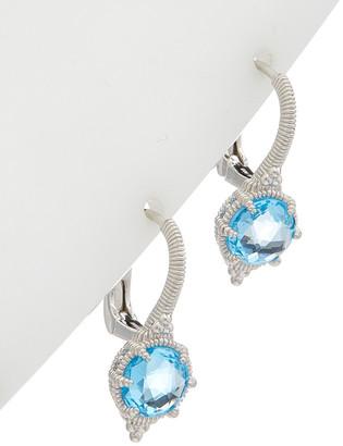 Judith Ripka Eclipse Silver 3.33 Ct. Tw. Blue Topaz Earrings