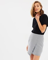 Miss Selfridge Checkered Body-Con Jersey Skirt