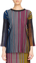 Kenzo Crewneck Paneled Sweater, Multicolor