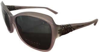 Bvlgari Purple Plastic Sunglasses