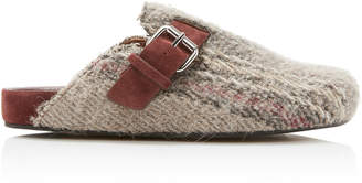 Isabel Marant Mirvin Suede-Trimmed Cotton-Blend Mules