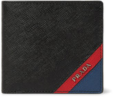 Prada Colour-Block Saffiano Leather Billfold Wallet
