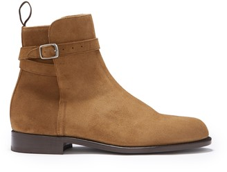 Hugs & Co Tobacco Suede Jodhpur Boots Welted Leather Sole