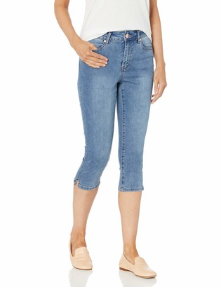 Lola Jeans Women's Plus Size High Rise Capri