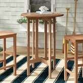 Beachcrest Home Elsmere Solid Wood Bar Table