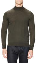Armani Collezioni Wool Mockneck Sweater