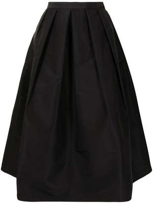 Tibi High-Waist Pleated Skirt