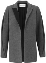 Amanda Wakeley Klara Charcoal Ribbon Blazer
