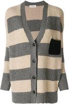 Zanone V-neck stripe cardigan