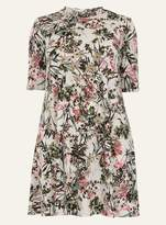**Amy.K Curve Cream Roll Neck Floral Dress