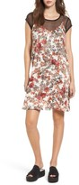BP Women's Layered Mesh Tee & Floral Slipdress