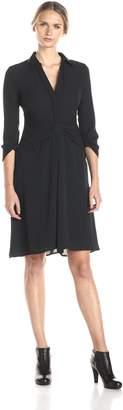 BCBGMAXAZRIA Azria Women's Tazar Shirt Dress with Draped Skirt