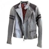 Jean Paul Gaultier Grey Leather Leather jackets