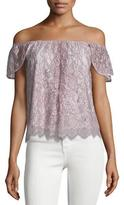 Rebecca Minkoff Jasmine Off-The-Shoulder Lace Top