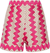 Missoni Crochet-knit Shorts - Fuchsia