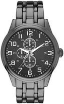 Merona Men's Five Link Bracelet Watch - Gun