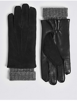 M&S Collection Luxury Cashmere Lined Leather Gloves