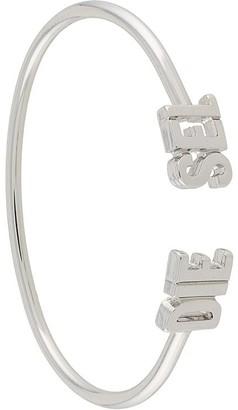 Diesel 3D logo cuff bracelet