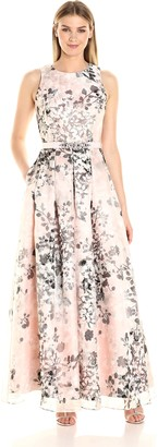 Brinker & Eliza Women's Floral Printed Ballgown