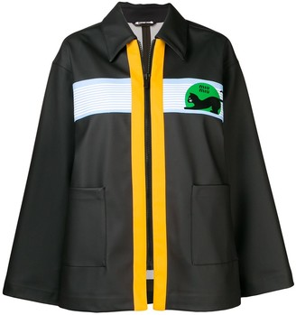 Miu Miu contrast zip jacket